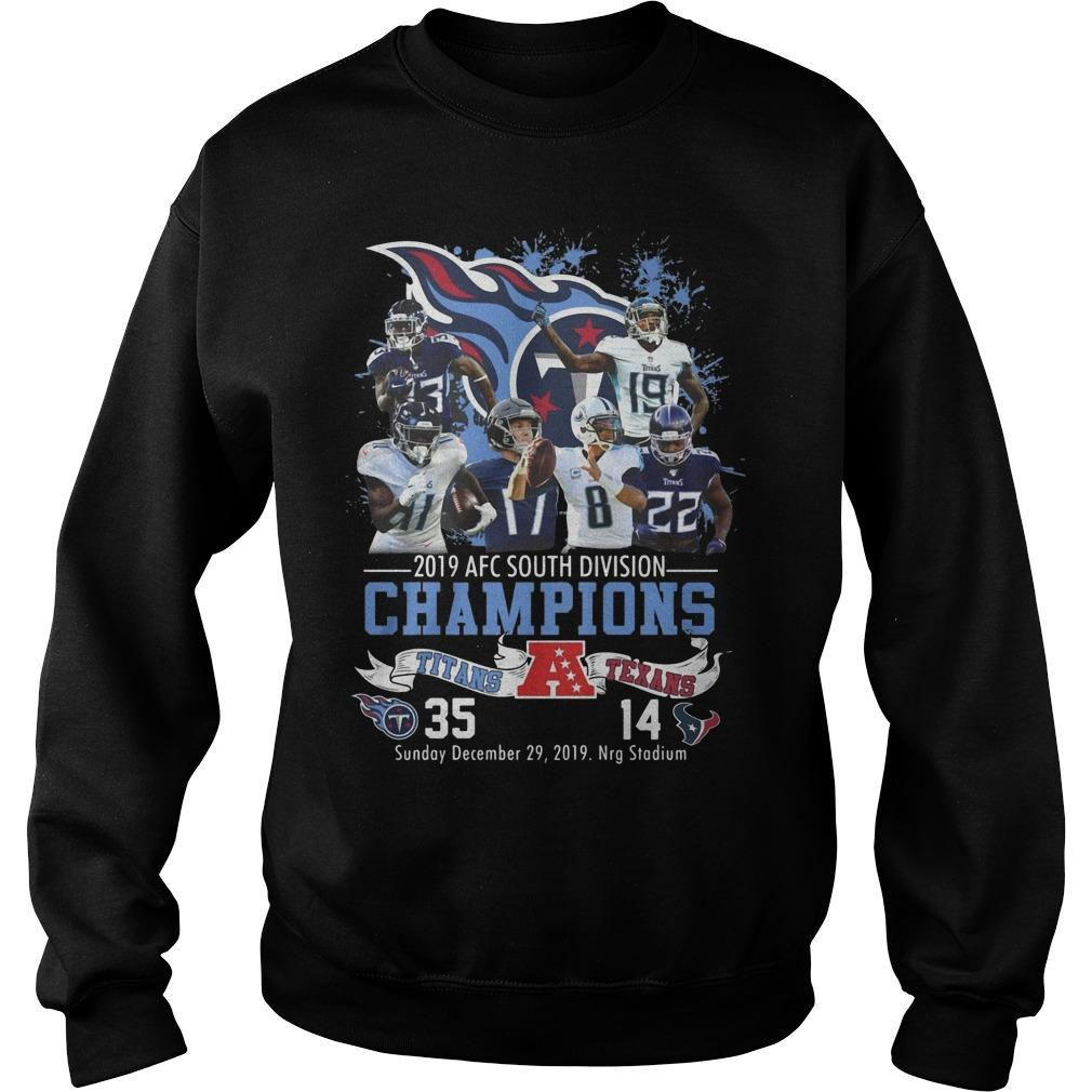 2019 Afc South Division Champions Titans 35 Texans 14 Sweater