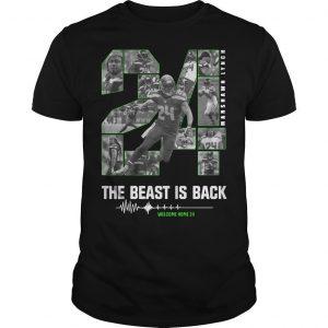 24 Marshawn Lynch The Beast Is Back Shirt