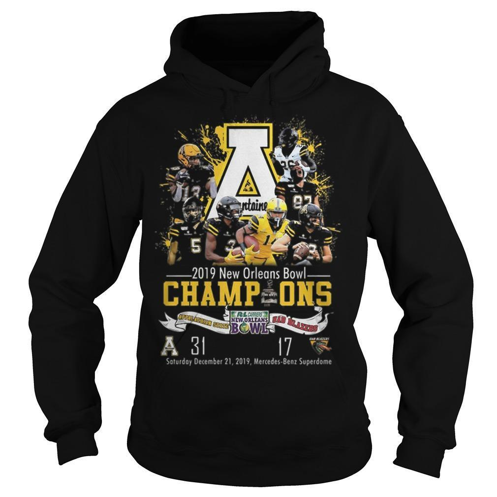 Appalachian State Mountaineers 2019 New Orleans Bowl Champions Hoodie