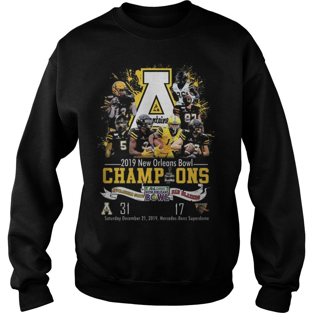Appalachian State Mountaineers 2019 New Orleans Bowl Champions Sweater