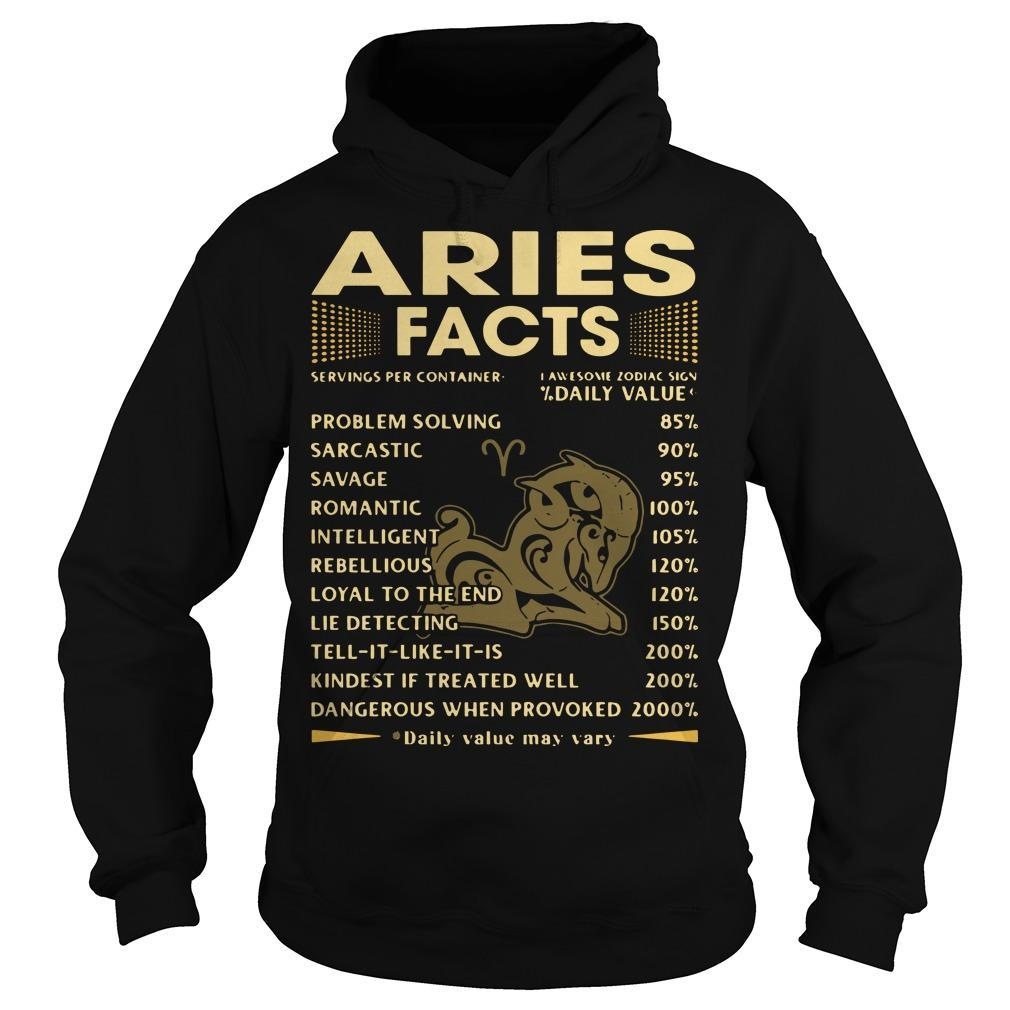 Aries Facts Problem Solving 85 Sarcastic 90 Savage 95 Hoodie