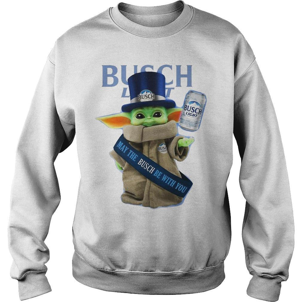 Baby Yoda Busch Light May The Busch Be With You Sweater