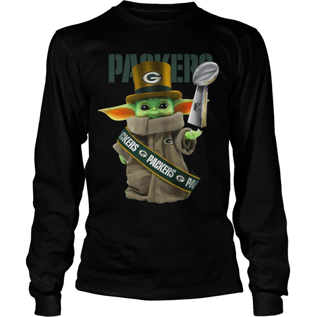 Baby Yoda Green Bay Packer Cup 2020 Longsleeve