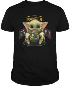 Baby Yoda Hug 75th Ranger Regiment Shirt