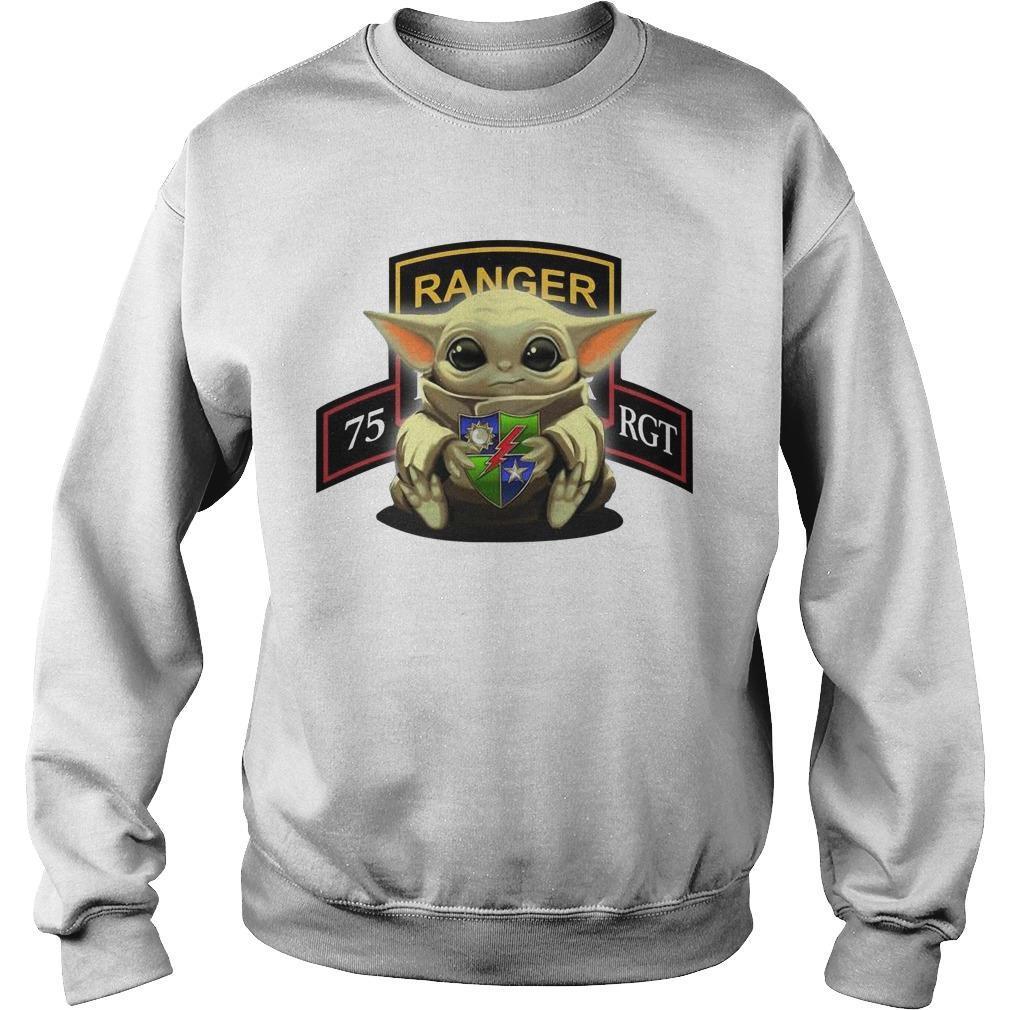 Baby Yoda Hugging 75th Ranger Regiment Sweater