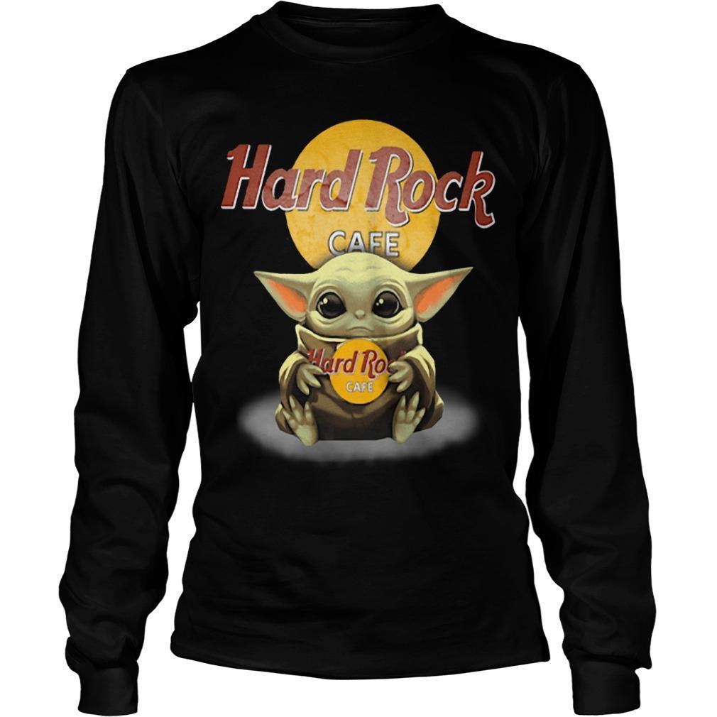 Baby Yoda Hugging Hard Rock Cafe Longsleeve