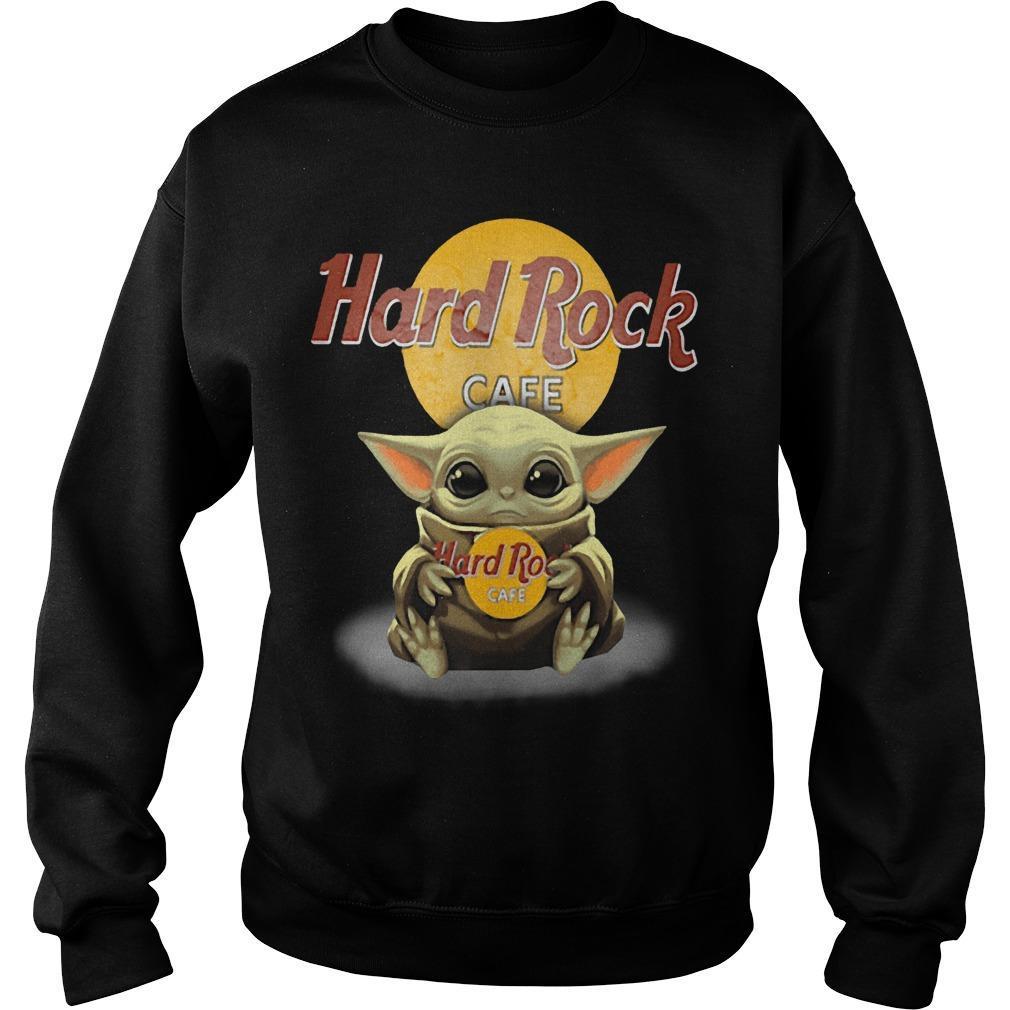 Baby Yoda Hugging Hard Rock Cafe Sweater