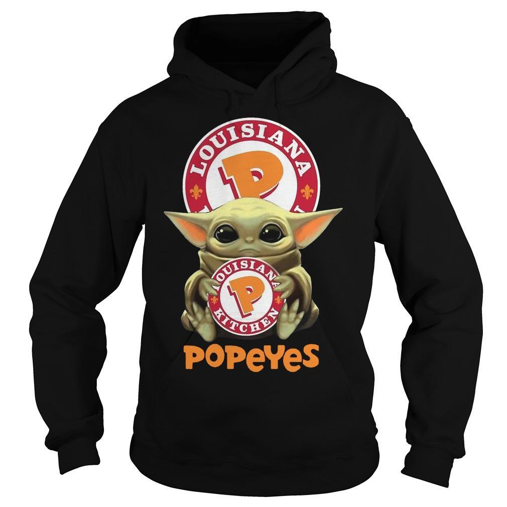 Baby Yoda Hugging Louisiana Kitchen Popeyes Hoodie