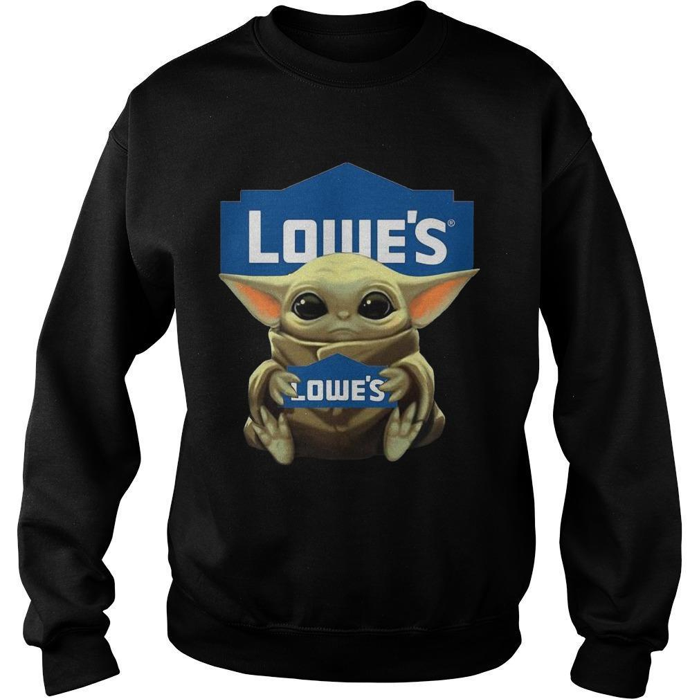 Baby Yoda Hugging Lowe's Sweater