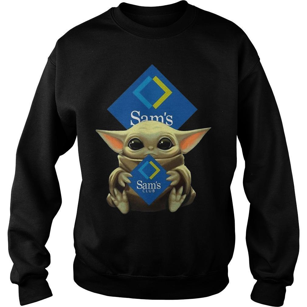 Baby Yoda Hugging Sams Club Sweater