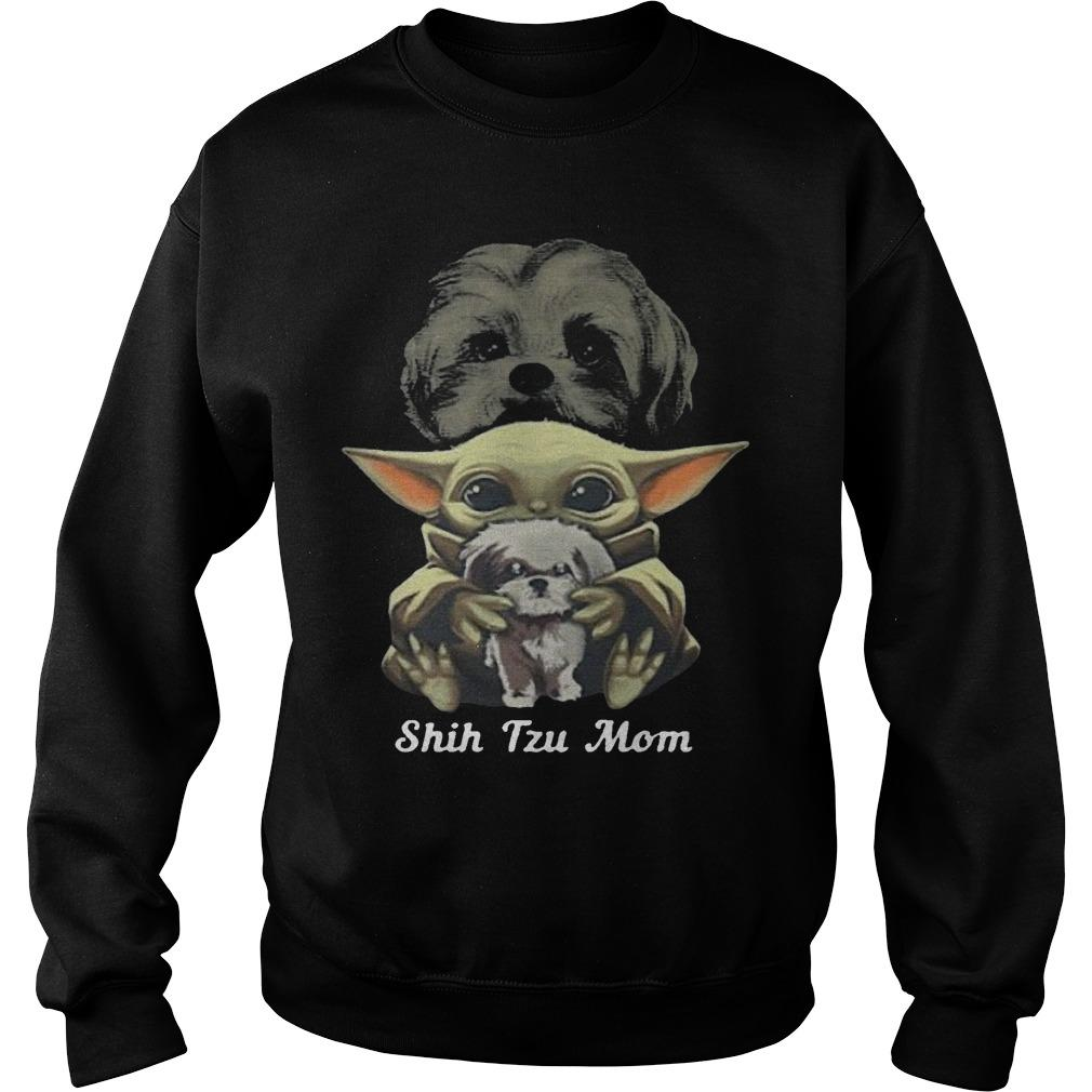 Baby Yoda Shih Tzu Mom Sweater