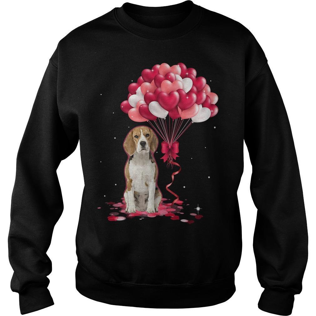 Beagle Love Balloons Sweater