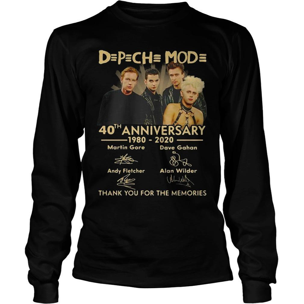 Depeche Mode 40th Anniversary 1980 2020 Longsleeve