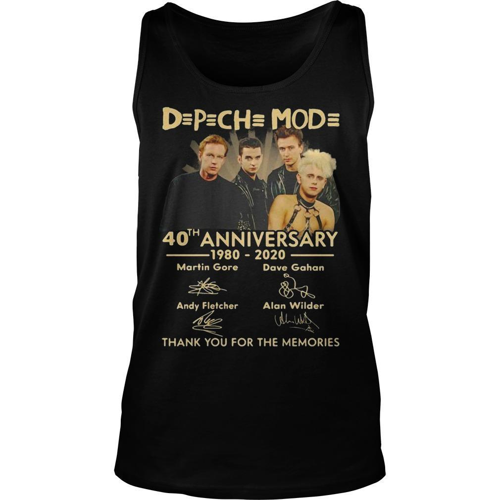 Depeche Mode 40th Anniversary 1980 2020 Tank Top