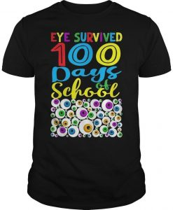 Eye Survived 100th Day Of School Shirt