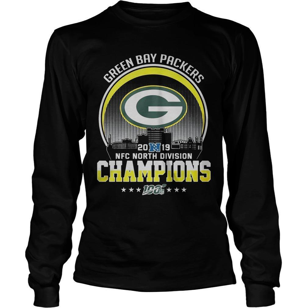Green Bay Packers 2019 Nfc North Division Champions Longsleeve