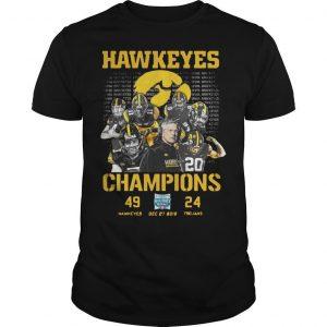 Hawkeyes Champions 499 Hawkeyes 24 Trojans Shirt
