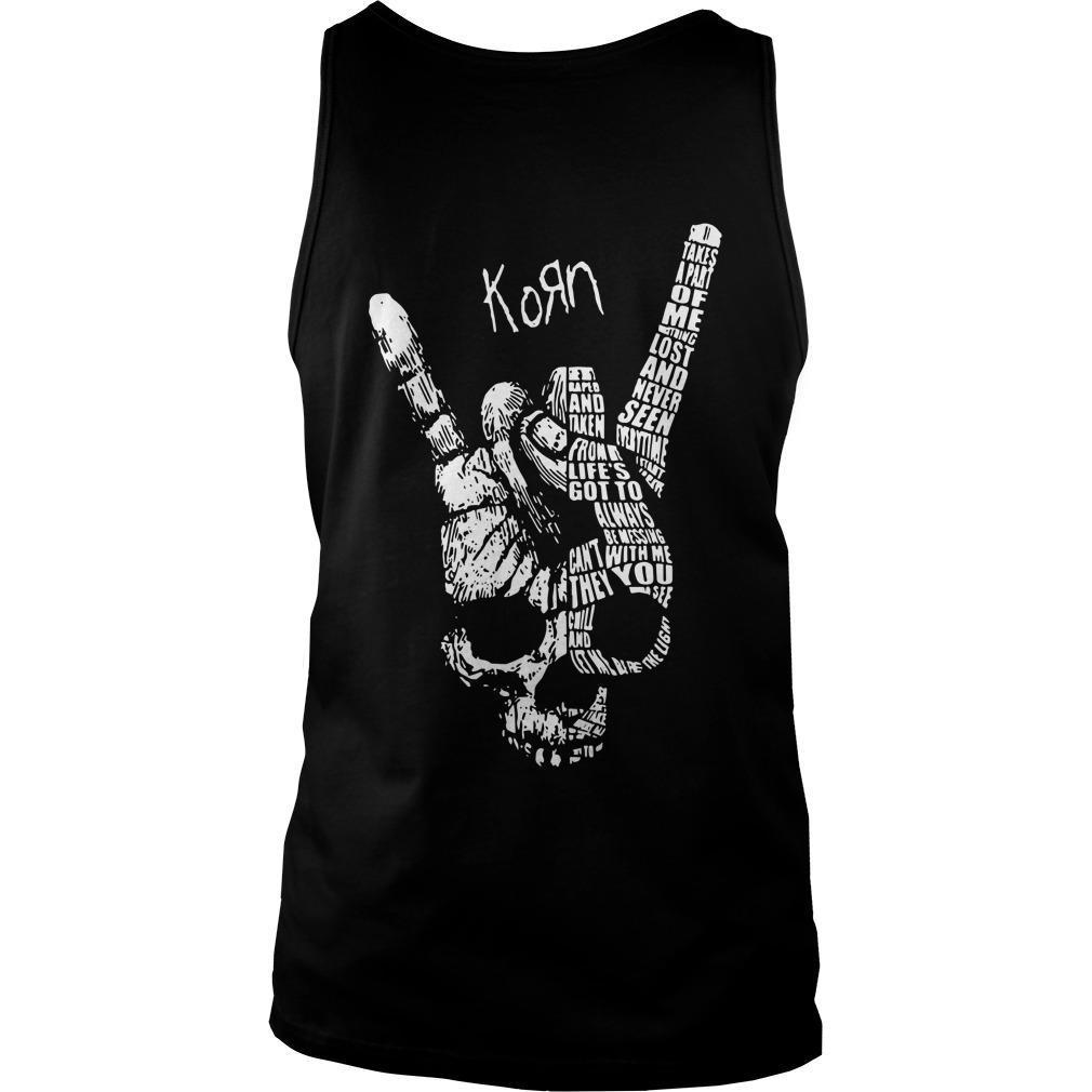 Heart Beat Skull Hand Korn Tank Top