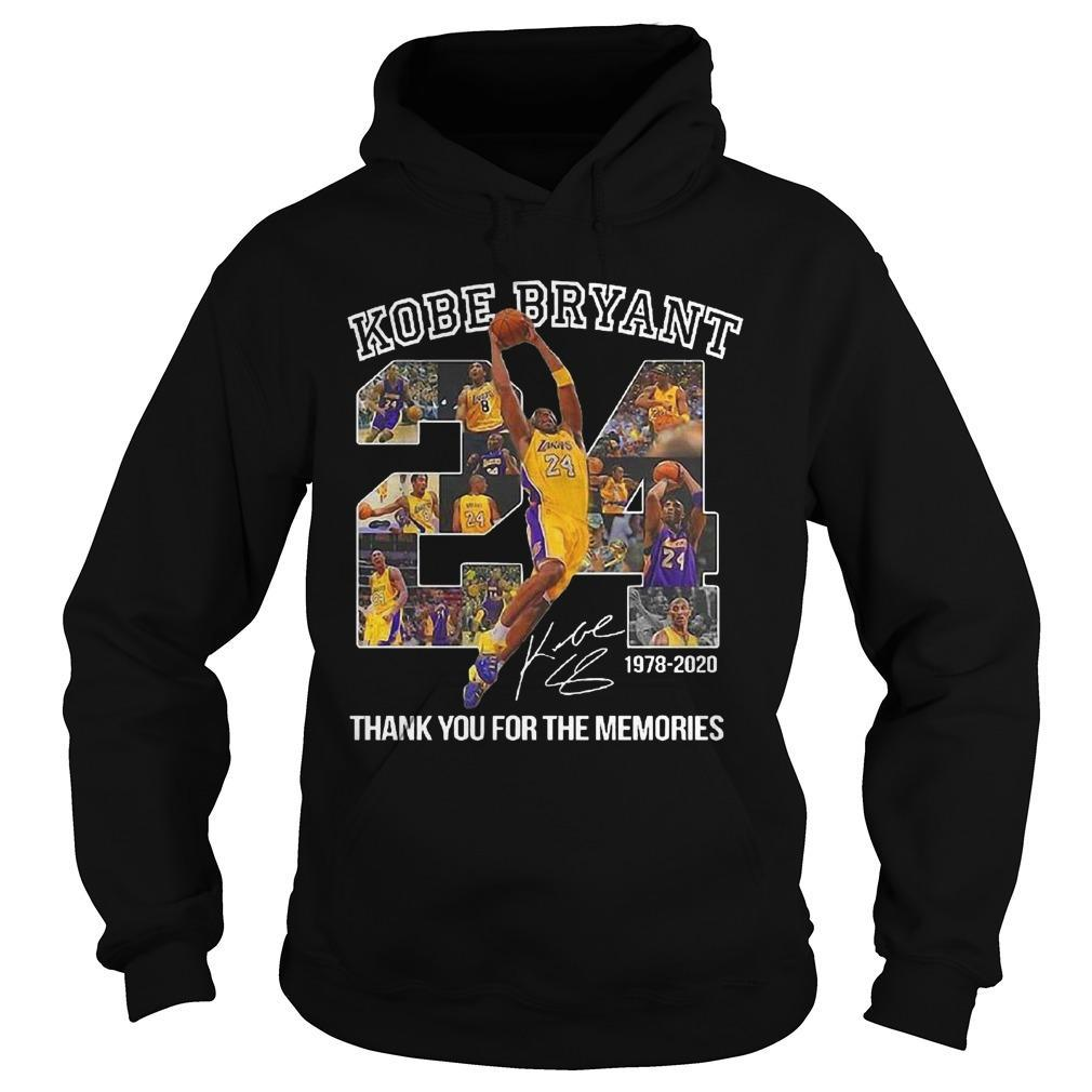 Kobe Bryant Thank You For The Memories Signature Hoodie