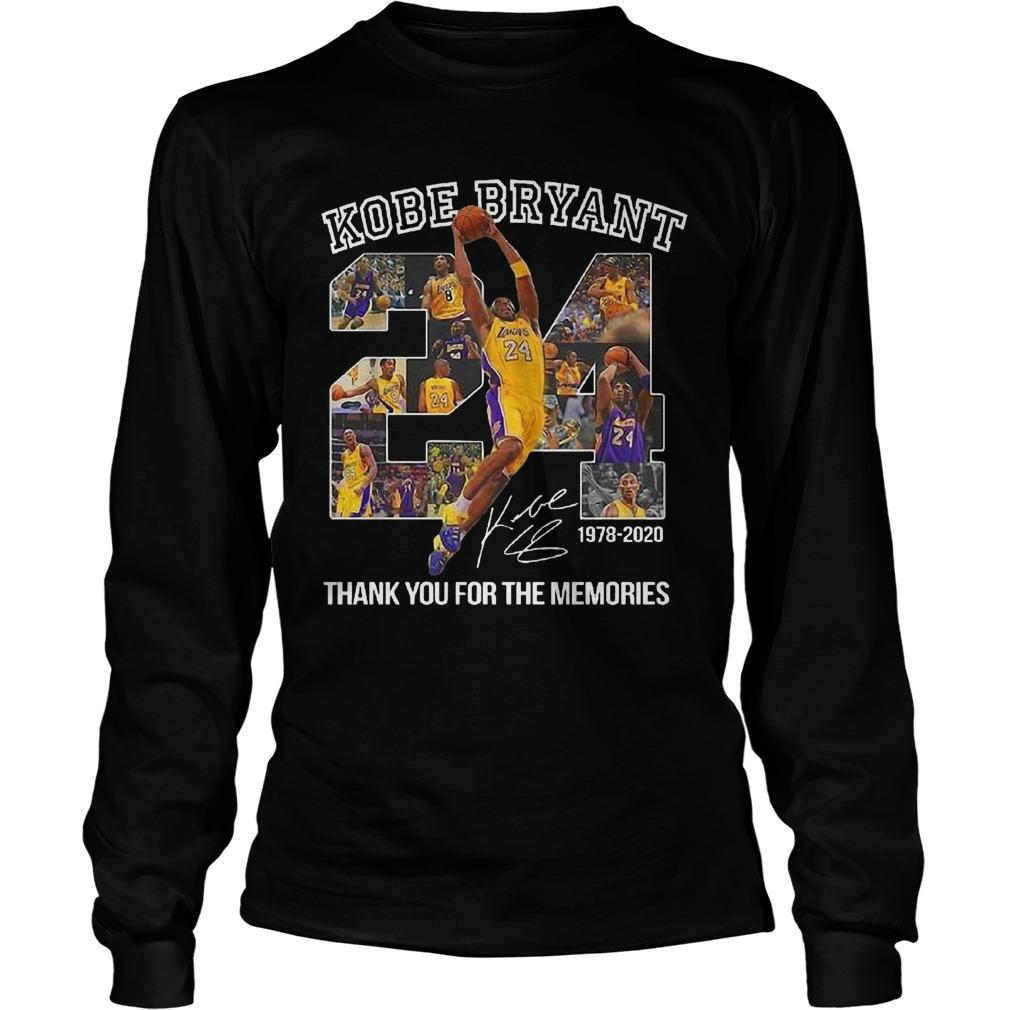 Kobe Bryant Thank You For The Memories Signature Longsleeve