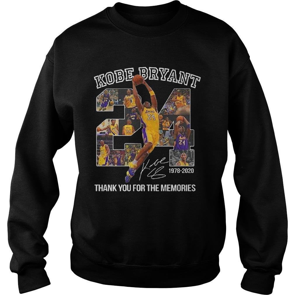 Kobe Bryant Thank You For The Memories Signature Sweater