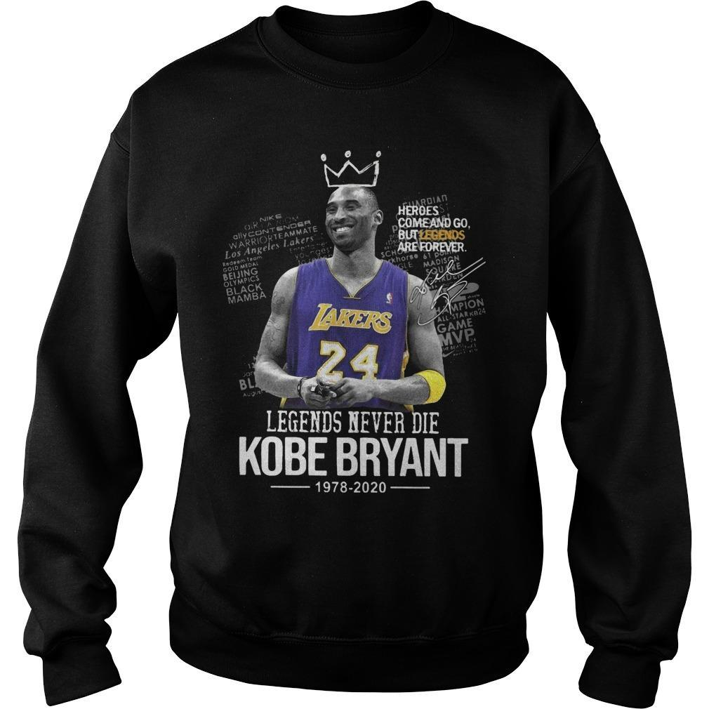 Legends Never Die Kobe Bryant 1978 2020 Sweater