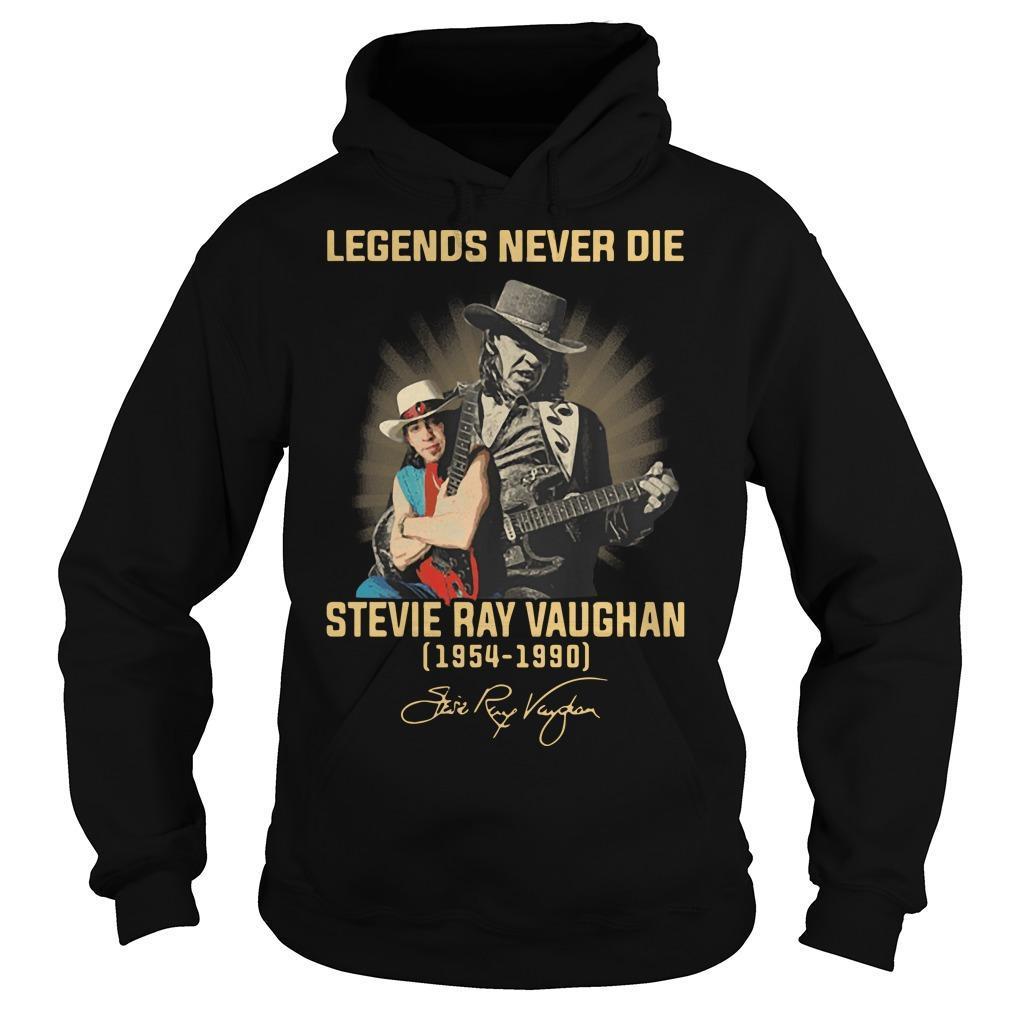 Legends Never Die Stevie Ray Vaughan 1954 1990 Signature Hoodie