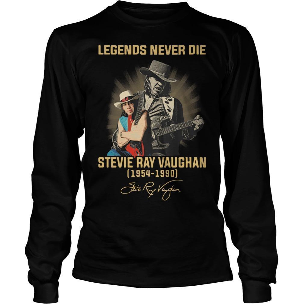 Legends Never Die Stevie Ray Vaughan 1954 1990 Signature Longsleeve