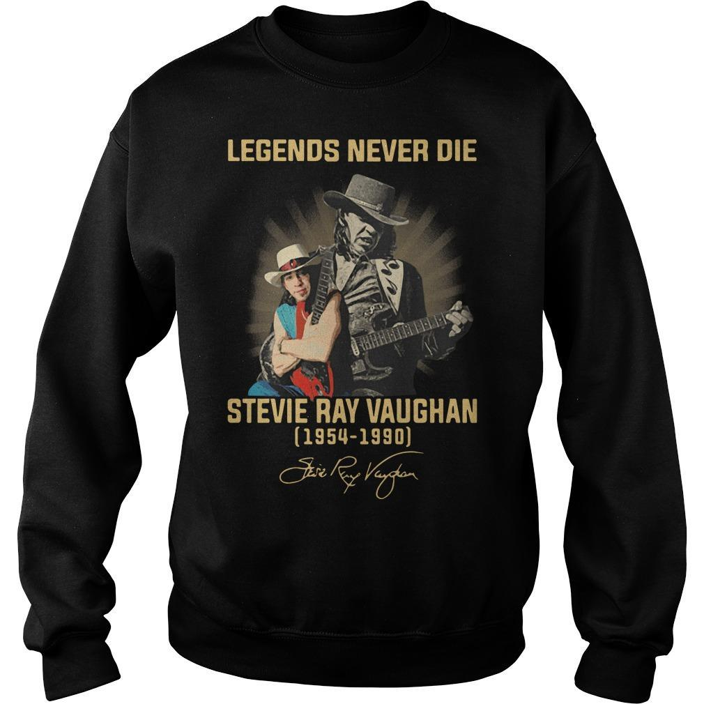 Legends Never Die Stevie Ray Vaughan 1954 1990 Signature Sweater