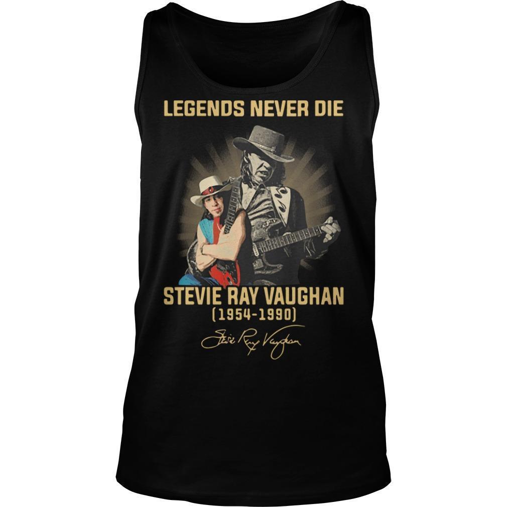 Legends Never Die Stevie Ray Vaughan 1954 1990 Signature Tank Top