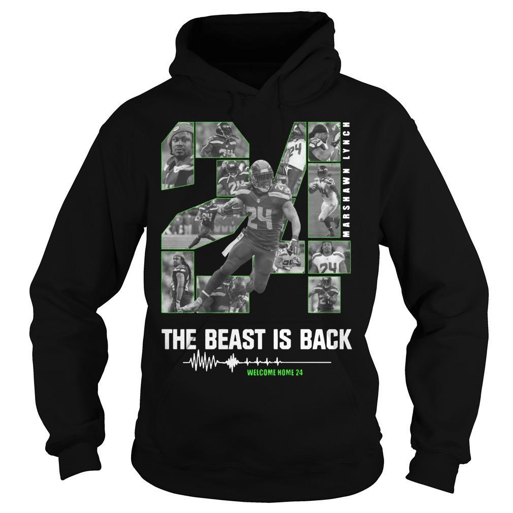 Marshawn Lynch 24 The Beast Is Back Hoodie