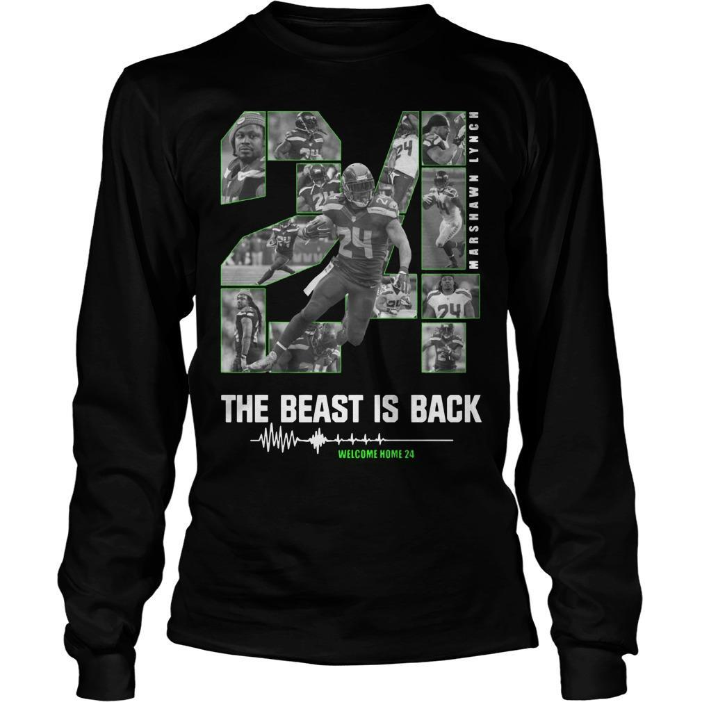 Marshawn Lynch 24 The Beast Is Back Longsleeve