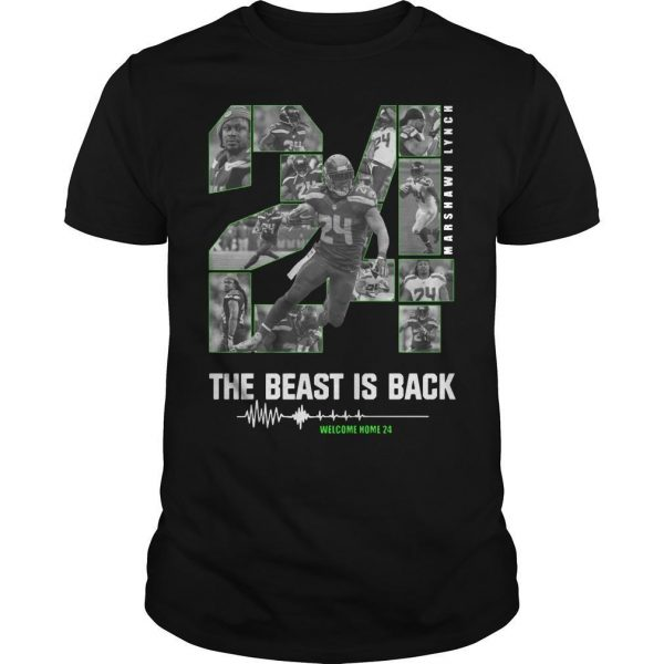 Marshawn Lynch 24 The Beast Is Back Shirt