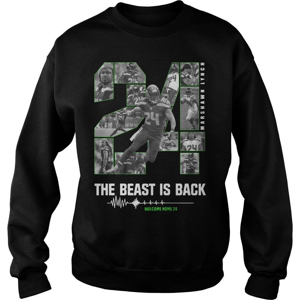 Marshawn Lynch 24 The Beast Is Back Sweater
