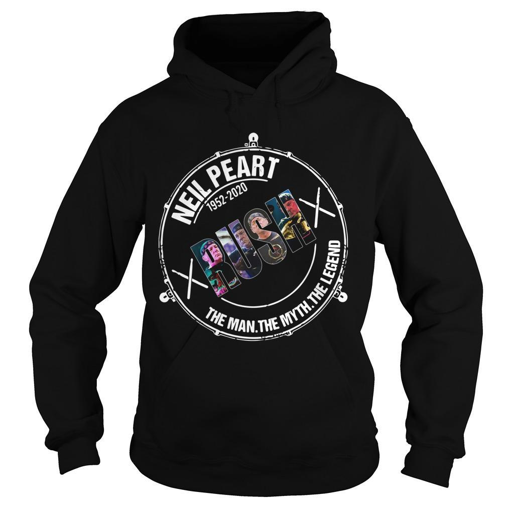 Neil Peart 1952 2020 Rush The Man The Myth The Legend Hoodie