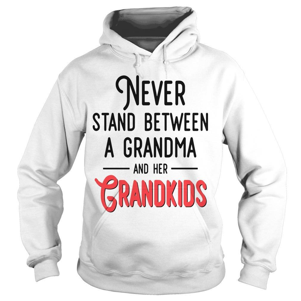 Never Stand Between A Grandma And Her Grandkids Hoodie