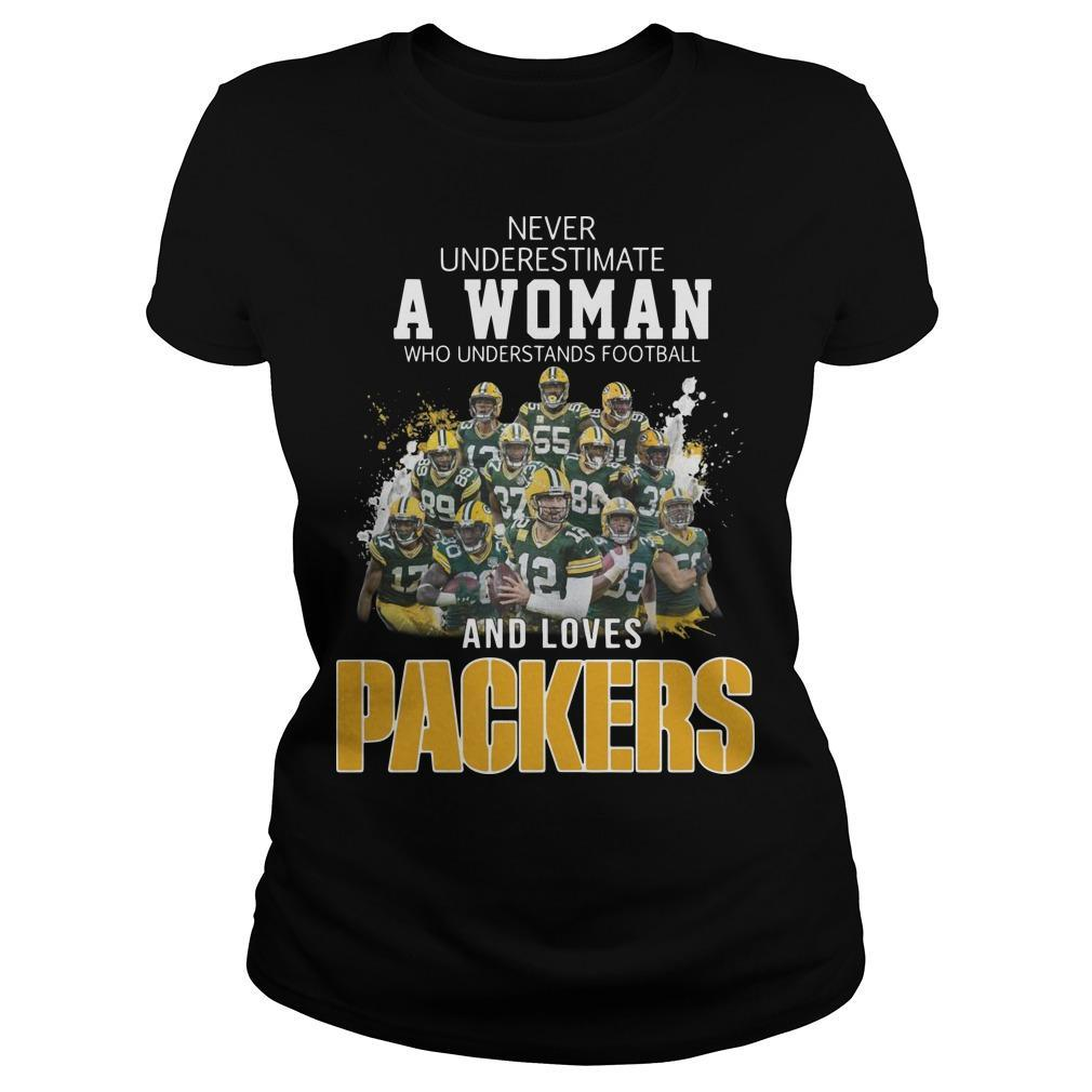 Never Underestimate A Woman Who Understands Football And Loves Packers Tank Top