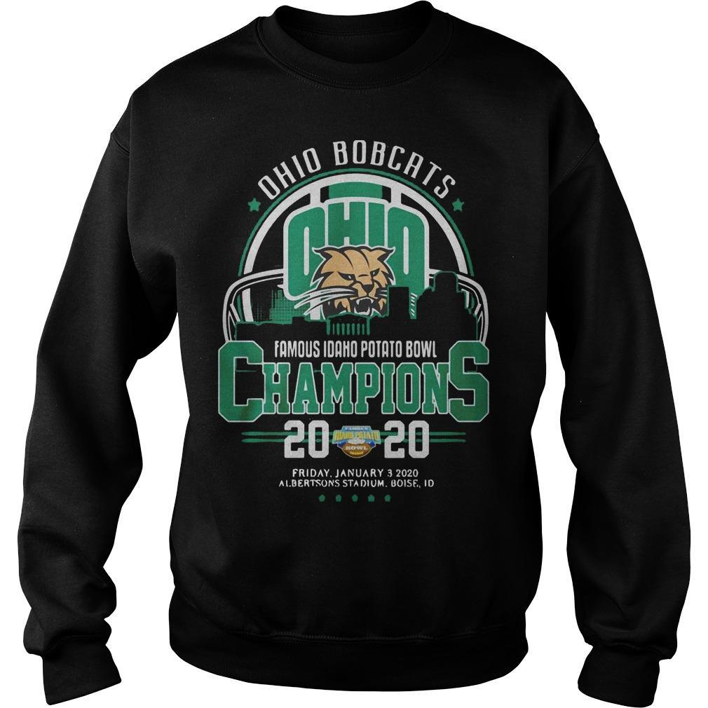 Ohio Bobcats Famous Idaho Potato Bowl Champions 2020 Sweater