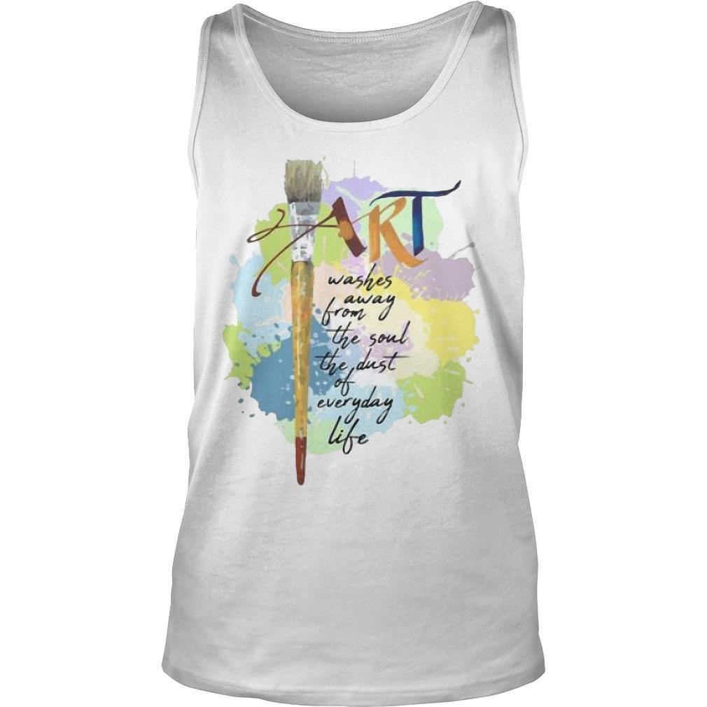 Paint Art Washed Away From The Soul The Dust Of Everyday Life Tank Top