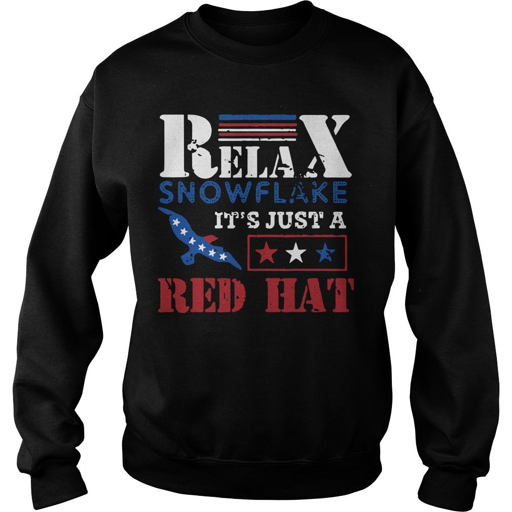 Relax Snowflake It's Just A Red Hat Trump 2020 Sweater