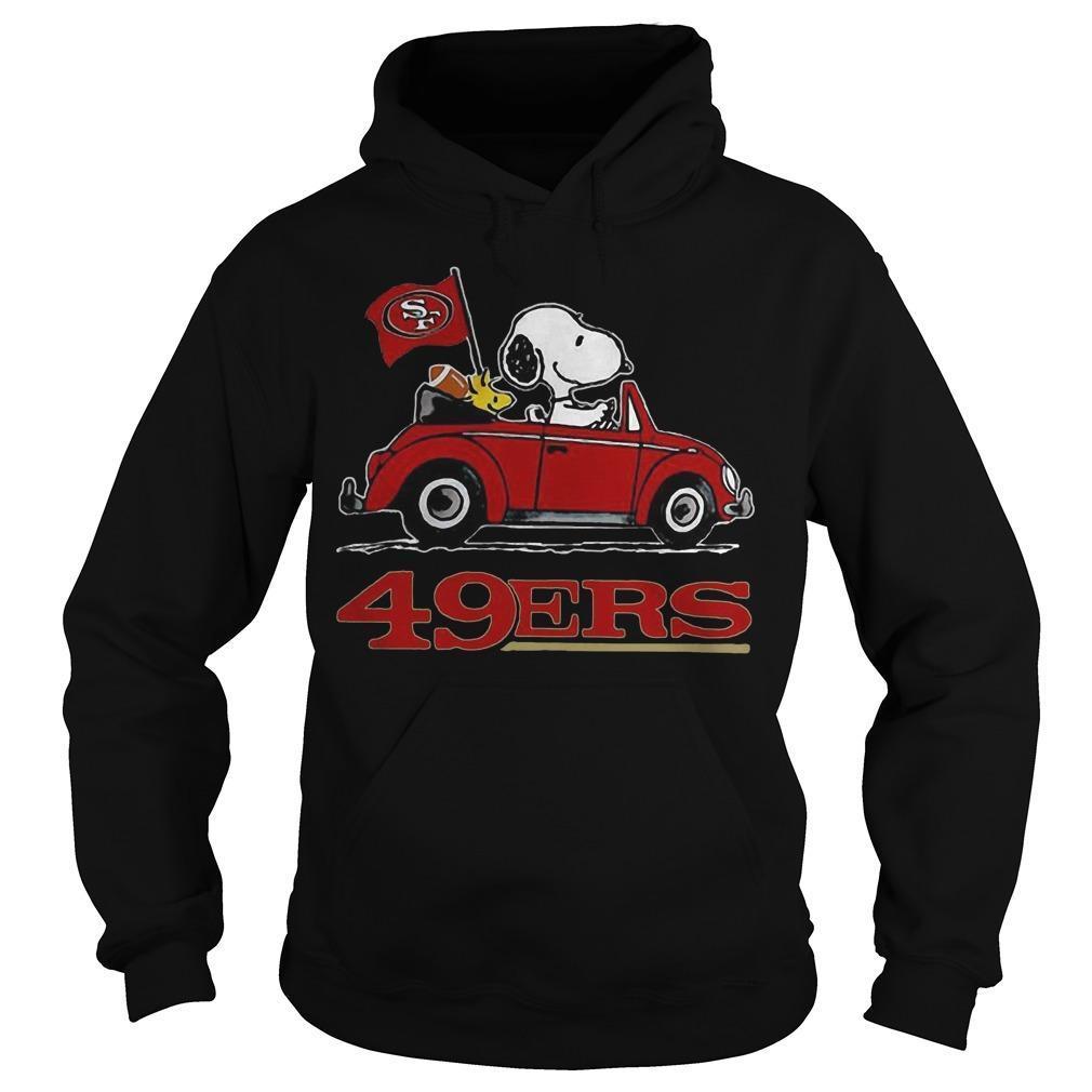 Snoopy Driving Volkswagen San Francisco 49ers Hoodie