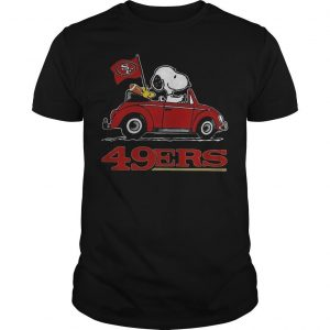 Snoopy Driving Volkswagen San Francisco 49ers Shirt
