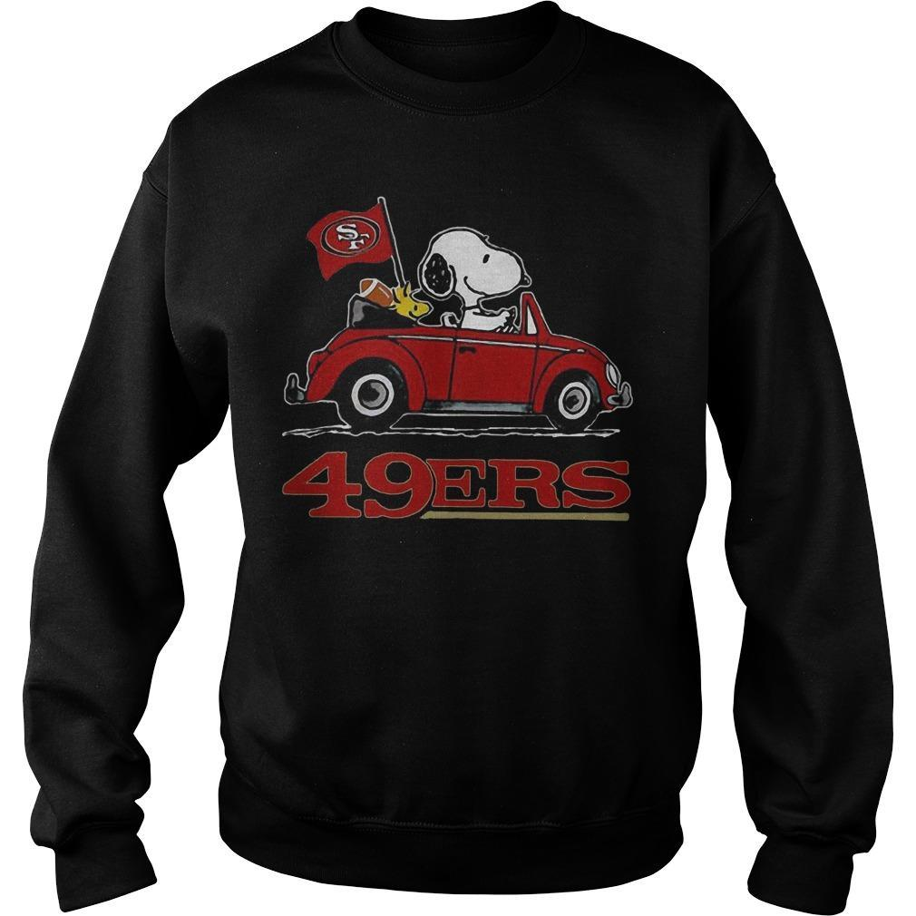 Snoopy Driving Volkswagen San Francisco 49ers Sweater