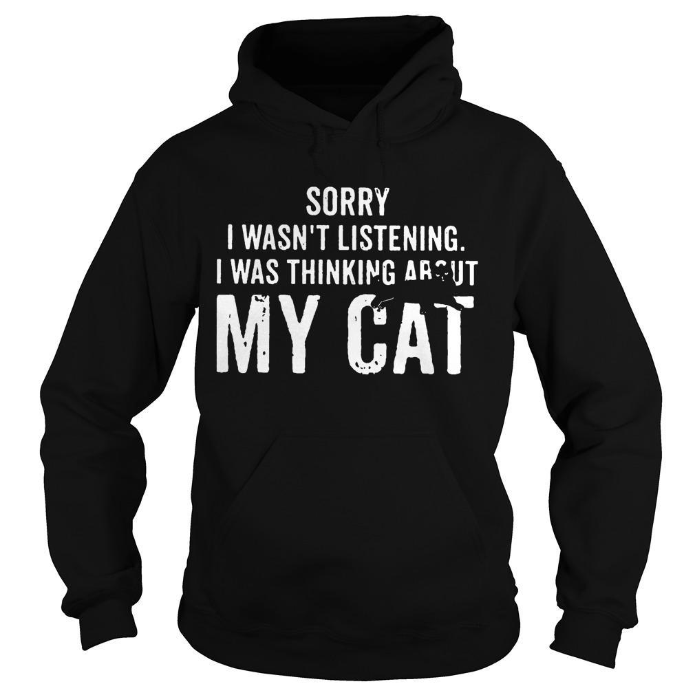Sorry I Wasn't Listening I Was Thinking About My Cat Hoodie