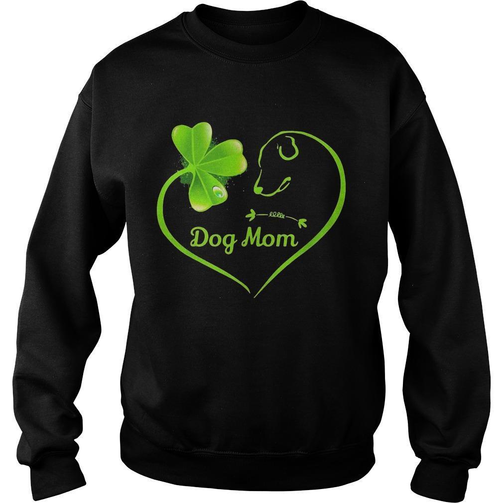 St Patrick's Day Three Leaf Clover Heart Dog Mom Sweater