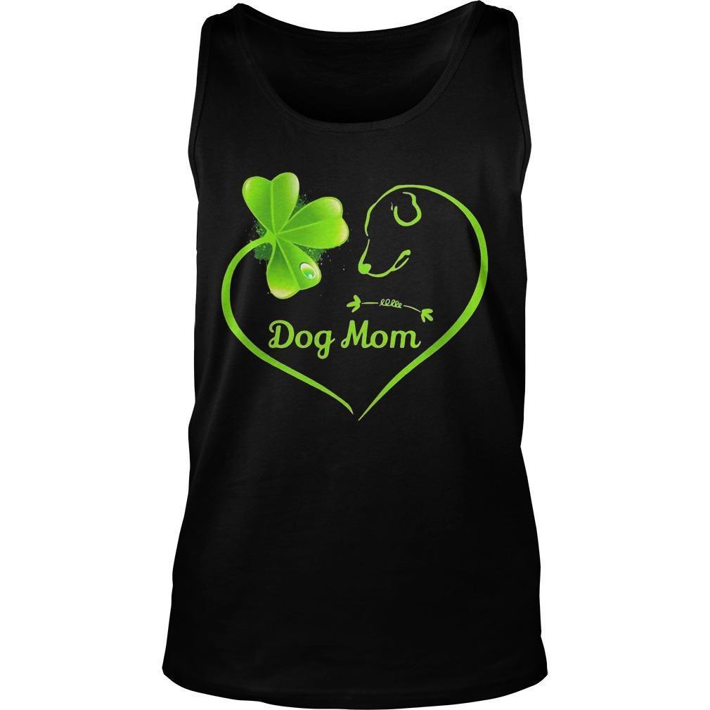 St Patrick's Day Three Leaf Clover Heart Dog Mom Tank Top