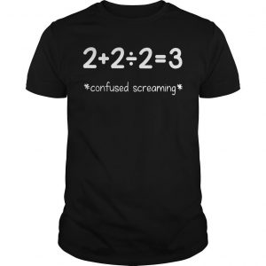 Students And Maths Teacher Confused Screaming Shirt