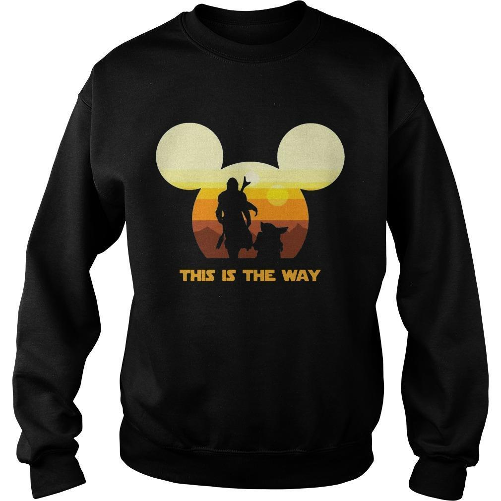 Sun Head Mickey Boba Fett And Baby Yoda This Is The Way Sweater