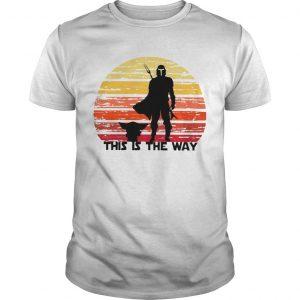Vintage Baby Yoda And Mandalorian This Is The Way Shirt