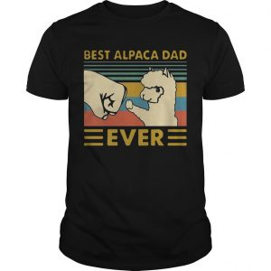 Vintage Best Alpaca Dad Ever Shirt